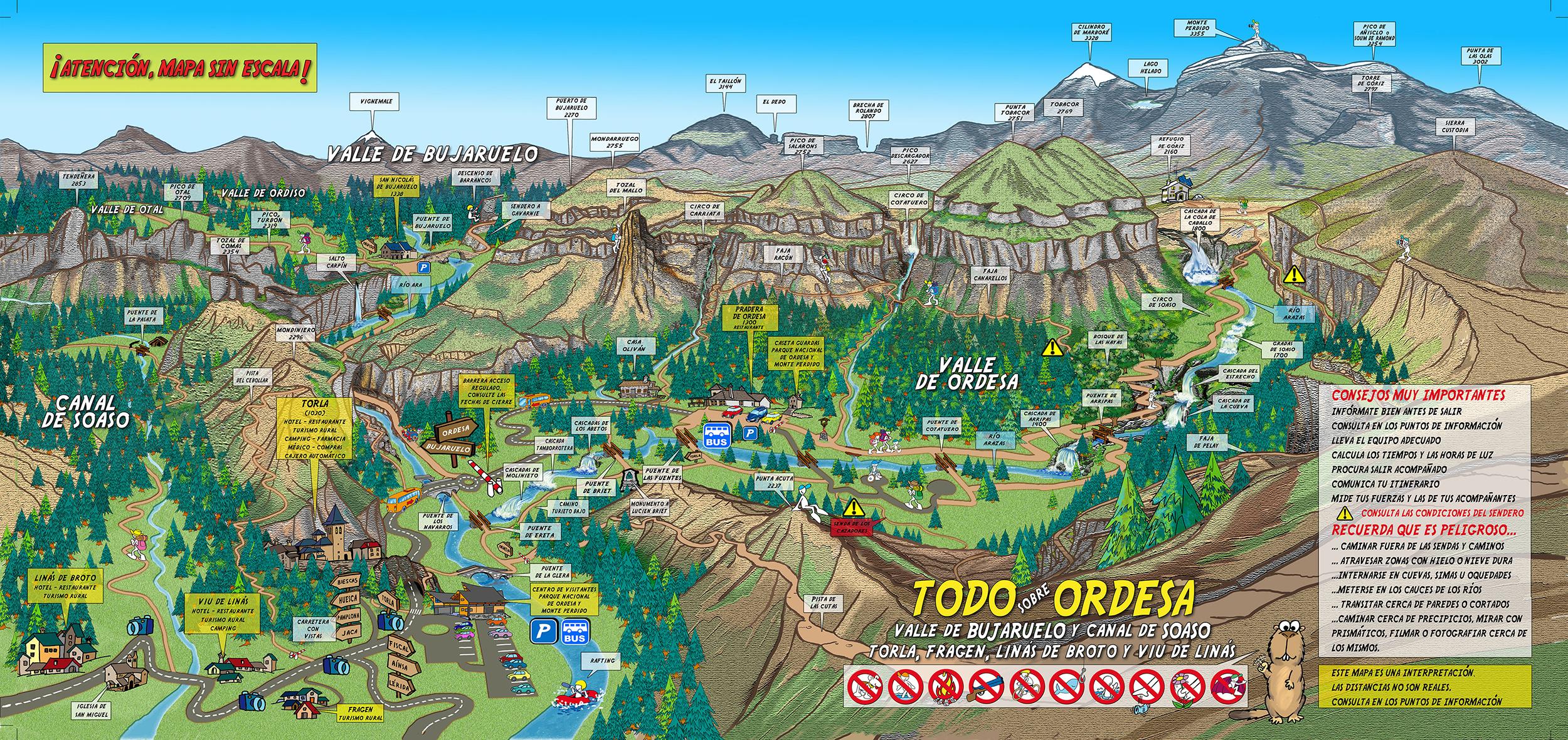 Mapa tur stico interactivo de torla ordesa descargable en for Oficina turismo torla